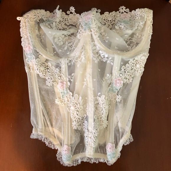 lingerie Victoria/'s Secret vintage floral sheer shorts size M